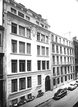 Rue Chaptal, home to SACEM until 1976